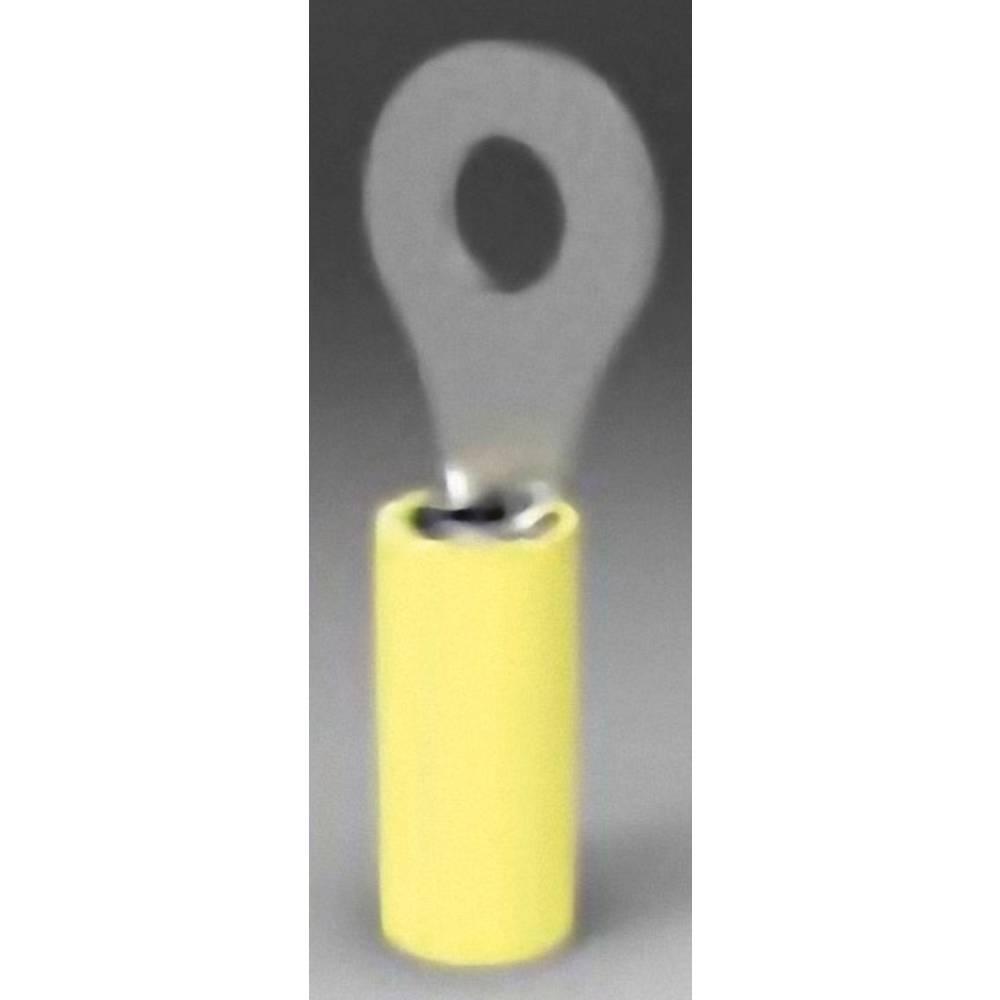 Obročast kabeljski čevelj, prerez (maks.)=6.64 mm luknja-=13.08 mm delno izoliran, rumene barve TE Connectivity 35151 1 kos