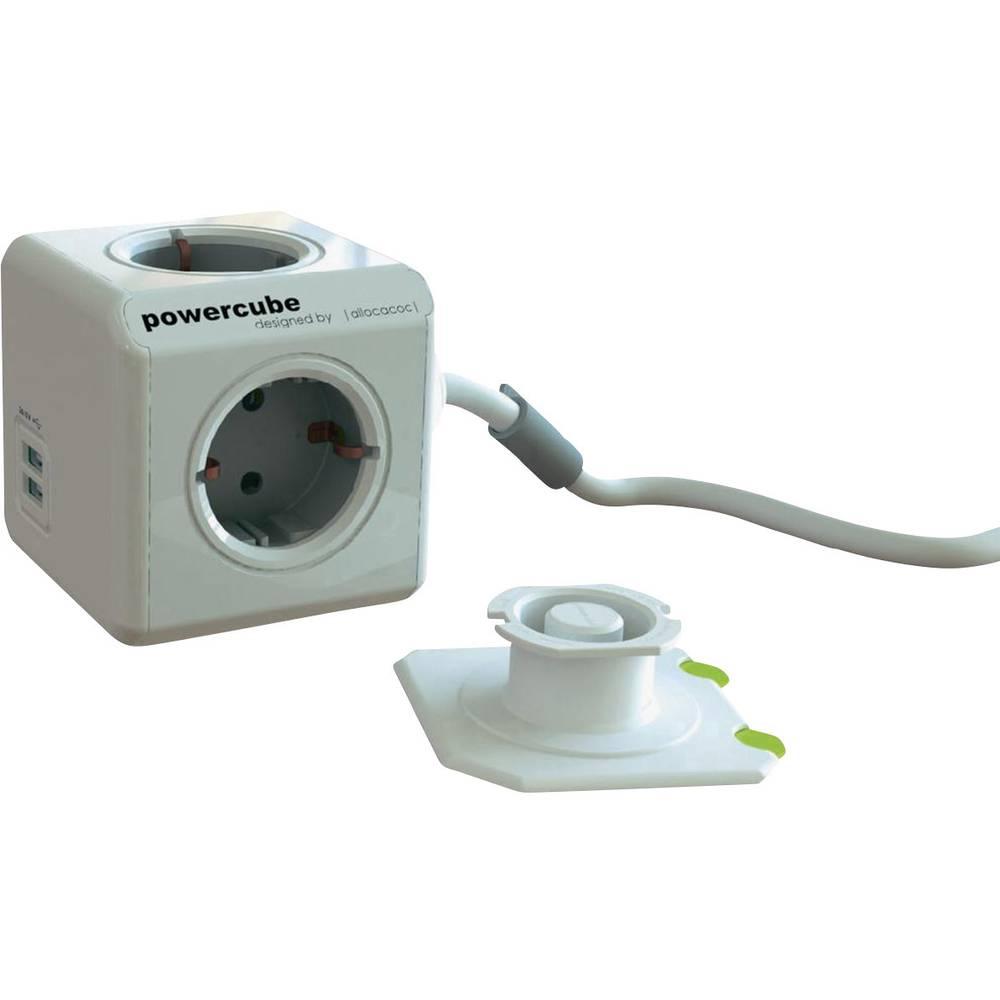Segula kocka s utičnicama Powercube 3 m USB sivo-bijela, siva H05VV-F 3G 1,5 mm