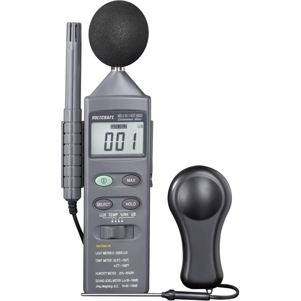 Mjerni uređaj za mjerenje uvjeta u okolini DT 8820 VOLTCRAFT 4-u-1 -20 do +750 °C senzor tipa K višefunkcijski uređaj 4u1 kalibr