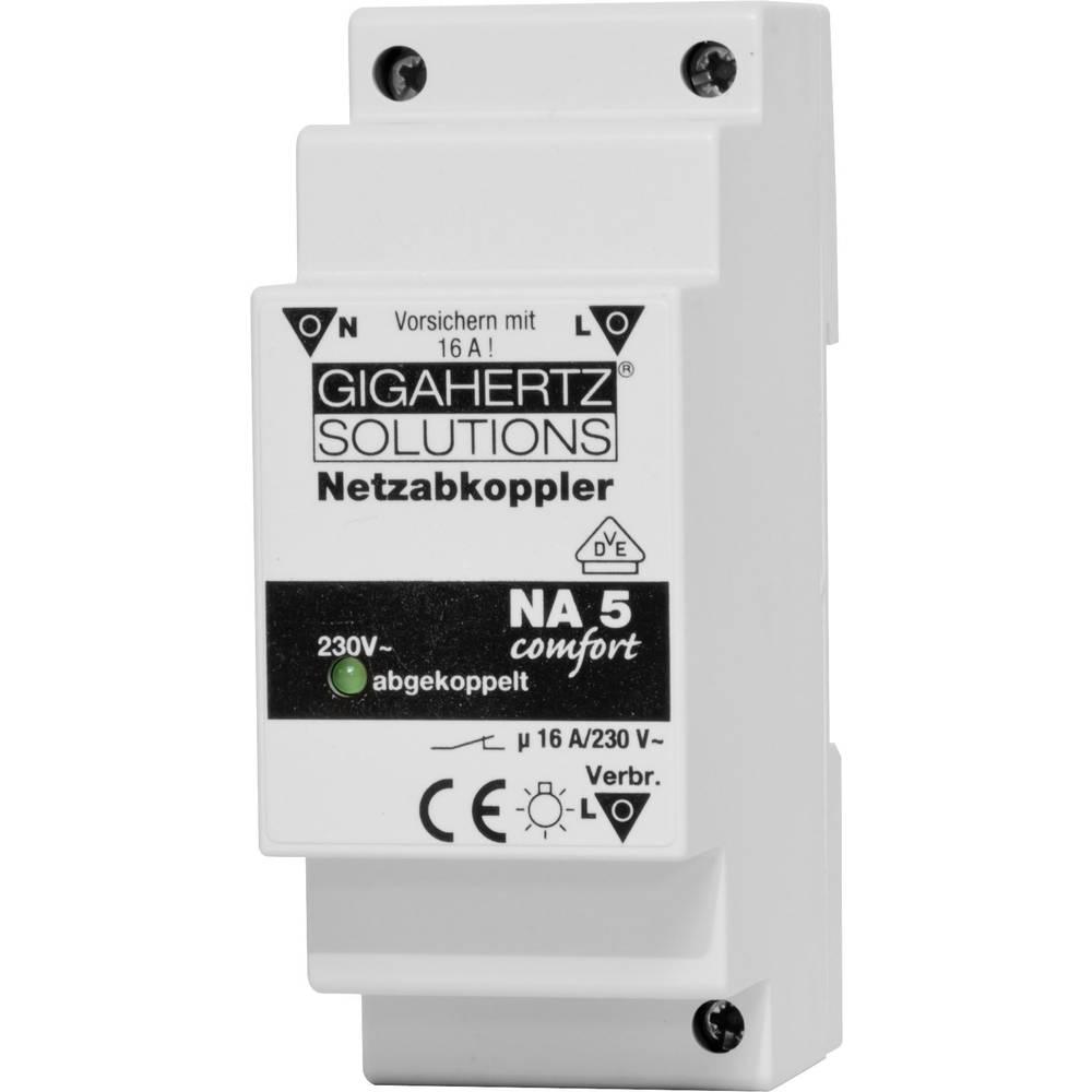 Netzabkoppler (value.1452721) 1 stk Gigahertz Solutions NA5 Koblingsspænding (max.): 230 V/AC 16 A 2300 W Ripple: 8 mV