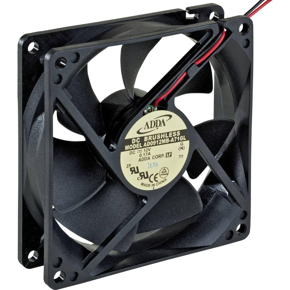 Aksialni ventilator 12 V/DC 83.9 m/h (D x Š x V) 92 x 92 x 25 mm ADDA AD0912MB-A71GL