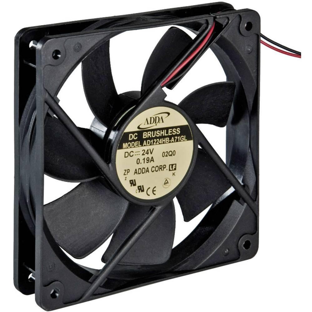 Aksial ventilator 24 V/DC 149.4 m³/h (L x B x H) 120 x 120 x 25 mm ADDA AD1224HB-A71GL