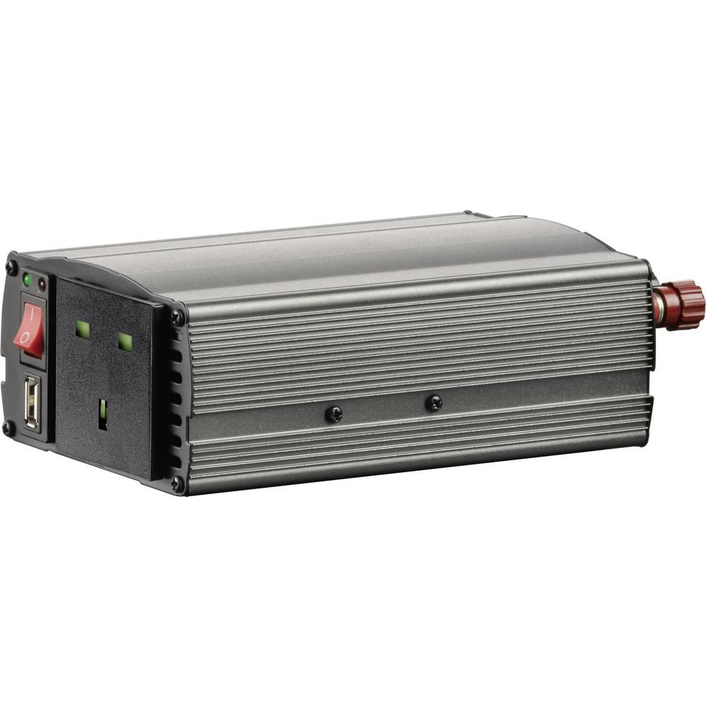 Izmjenjivač VOLTCRAFT MSW 300-12-UK 300 W 12 V/DC 10.5 - 15 V/DC utikač za cigaretni upaljač, vijčana spojka UK