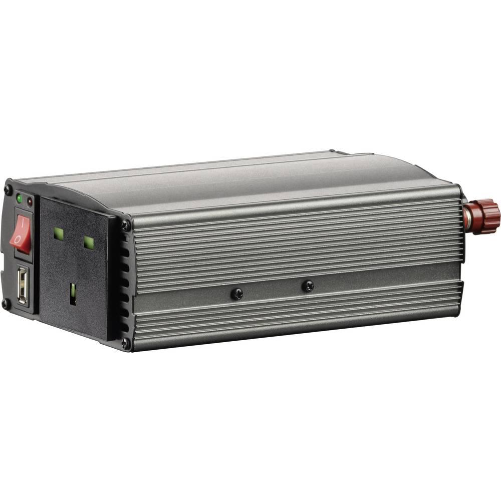 Pretvornik VOLTCRAFT MSW 300-24-UK 300 W 24 V/DC 21 - 30 V/DC, vtič z vžigalnikom, vijačni zaščiteni kontakti-vtičnica UK