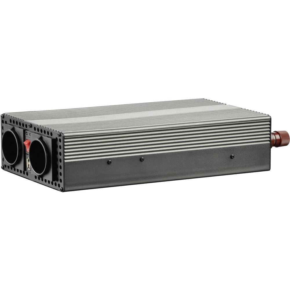 Inverter VOLTCRAFT MSW 1200-24-F 1200 W 24 V/DC 21 - 30 V/DC Skrueklemmer Beskyttelseskontakt-stikdåse F