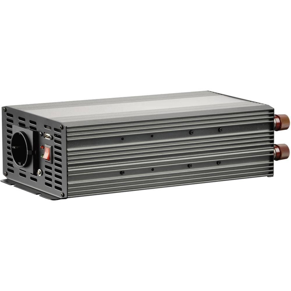 Inverter VOLTCRAFT MSW 2000-12-G 2000 W 12 V/DC 10,5 - 15 V/DC Skrueklemmer Jordstik