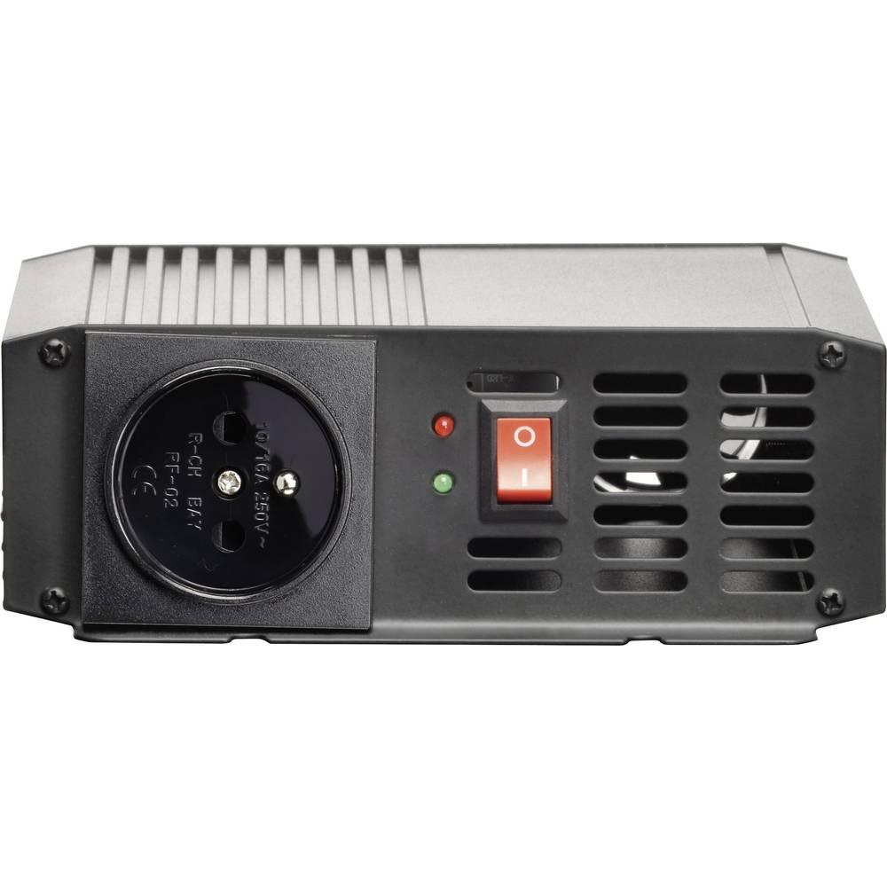 Inverter VOLTCRAFT PSW 300-12-F 300 W 12 V/DC 10.5 - 15 V/DC Skrueklemmer Beskyttelseskontakt-stikdåse F