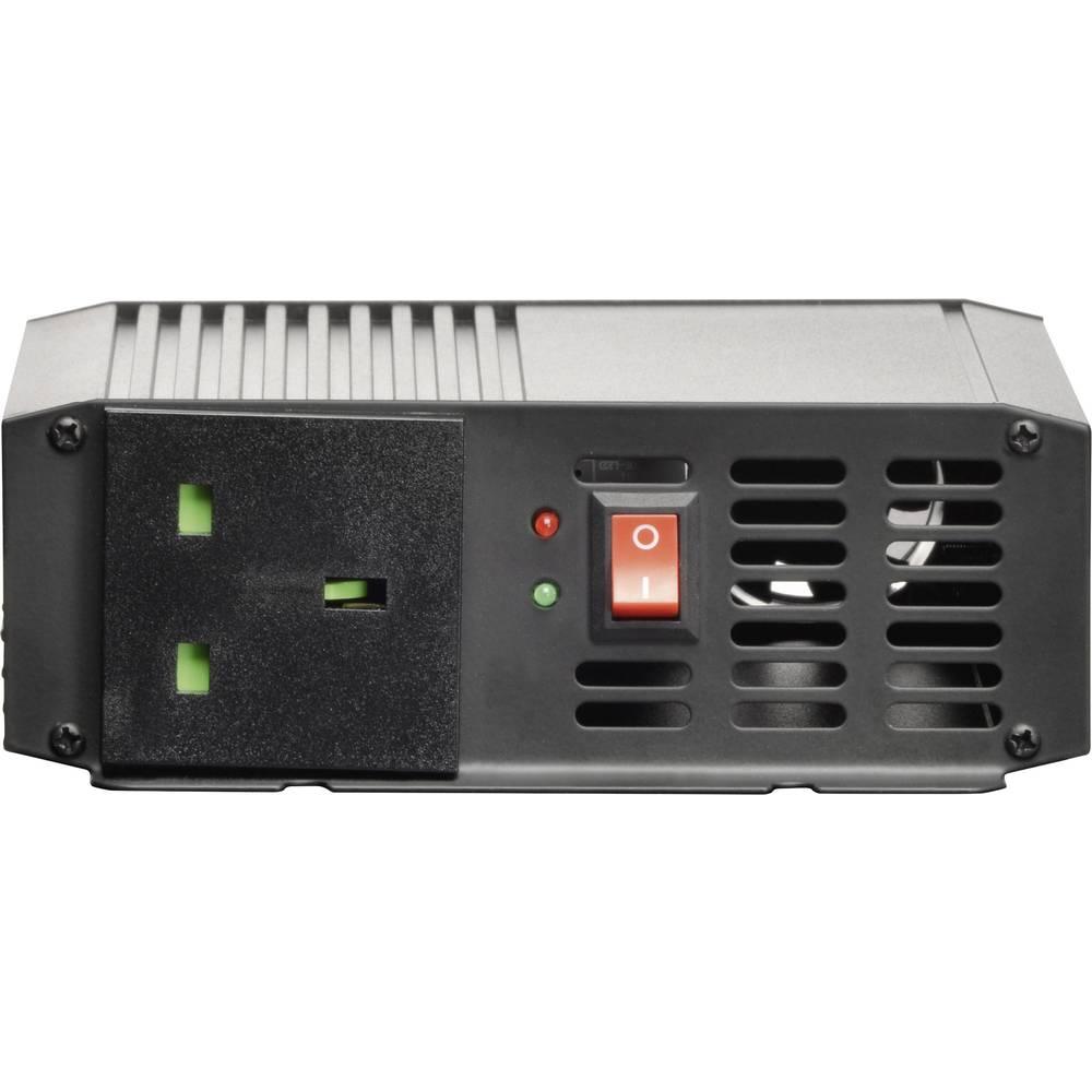 Inverter VOLTCRAFT PSW 300-12-UK 300 W 12 V/DC 10.5 - 15 V/DC Skrueklemmer Beskyttelseskontakt-stikdåse UK