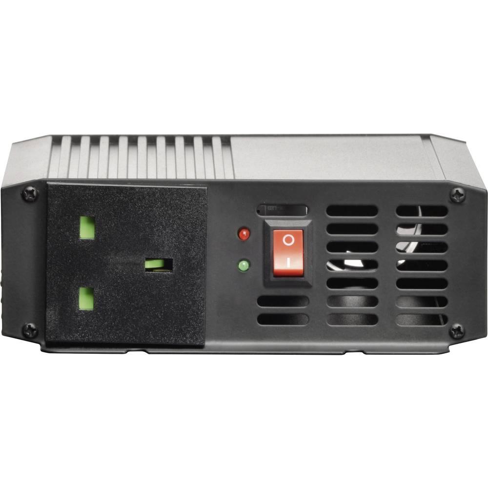 Inverter VOLTCRAFT PSW 300-24-UK 300 W 24 V/DC 21 - 30 V/DC Skrueklemmer Beskyttelseskontakt-stikdåse UK