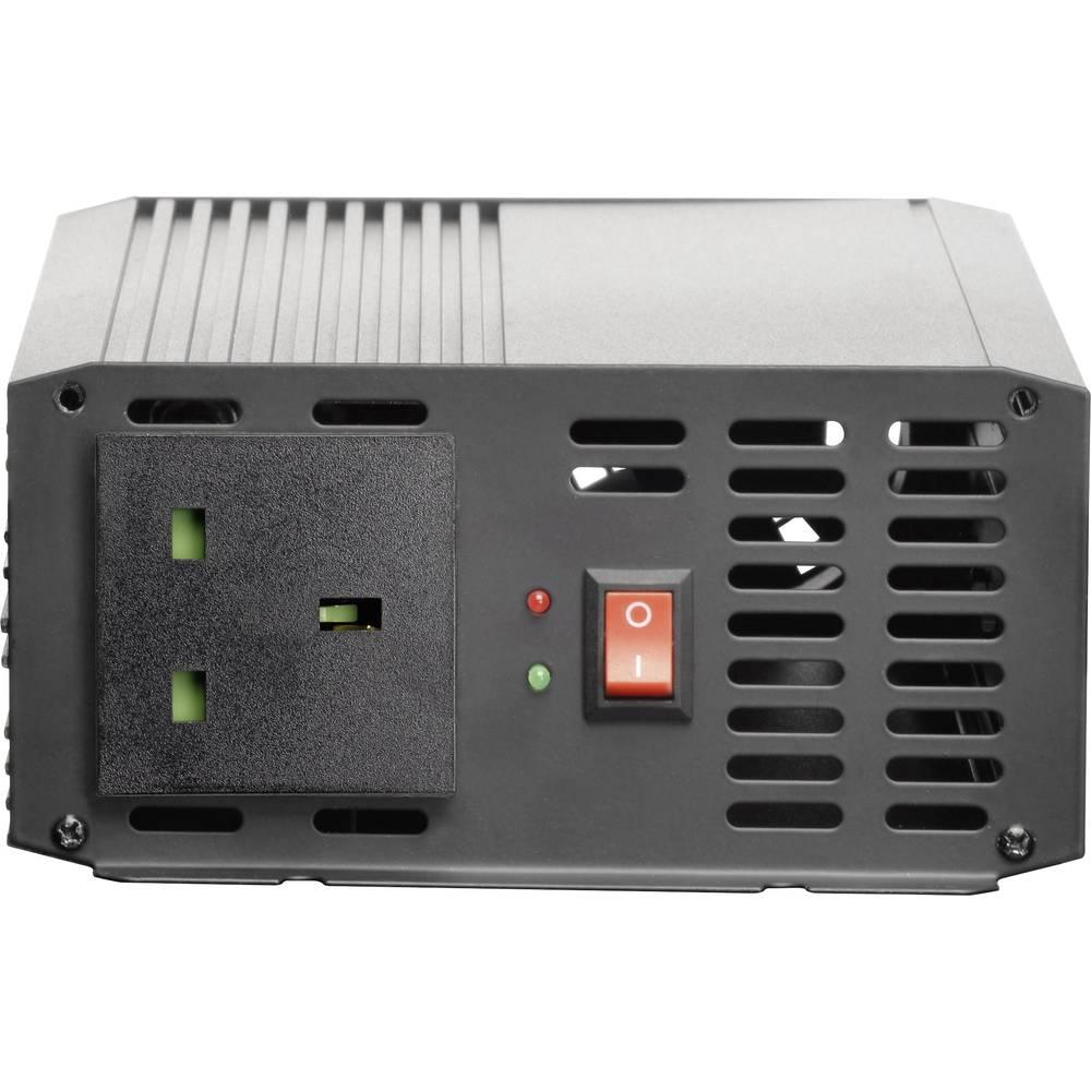 Inverter VOLTCRAFT PSW 1000-24-UK 1000 W 24 V/DC Skrueklemmer Beskyttelseskontakt-stikdåse UK