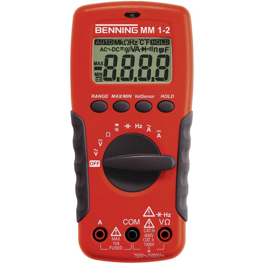 Ročni multimeter, digitalni Benning MM 1-2 kalibracija narejena po: delovnih standardih, CAT II 1000 V, CAT III 600 V število zn
