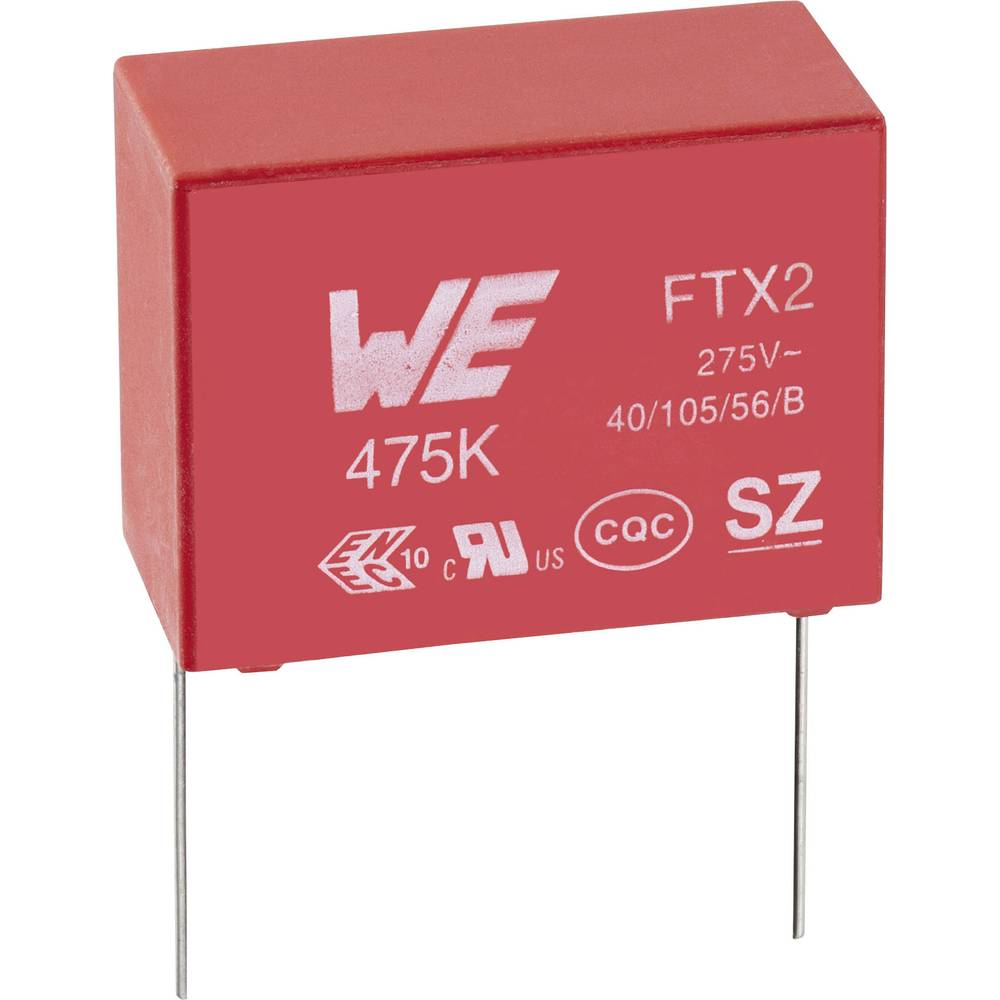 Kondenzator za uklanjanje smetnji X2 radijalno ožičen 68 nF 275 V/AC 10 % 15 mm (D x Š x V) 18 x 6 x 12 mm Würth Elektronik WCAP