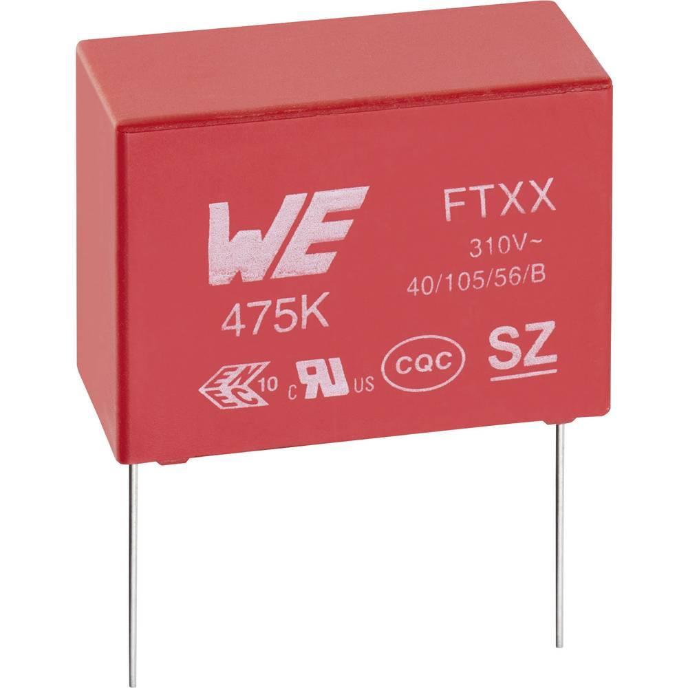 Kondenzator za uklanjanje smetnji X2 radijalno ožičen 120 nF 310 V/AC 10 % 15 mm (D x Š x V) 18 x 7.5 x 13.5 mm Würth Elektronik