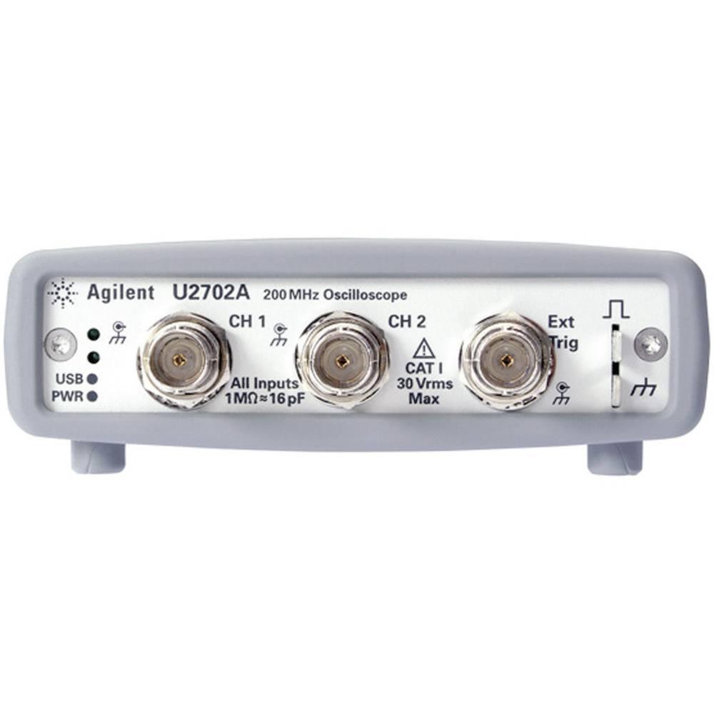 Kal. DAkkS USB-osciloskop Keysight Technologies U2702A 200 MHz 2-kanalni 500 MSa/s 16 Mpts 8 Bit kalibracija narejena po DAkkS d