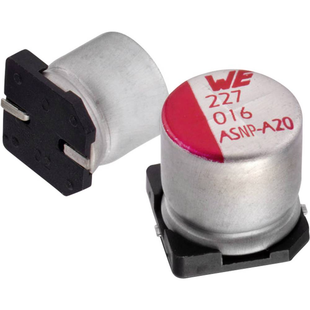 Elektrolitski kondenzator SMD 3300 µF 6.3 V 20 % (promjer x V) 12.5 mm x 14 mm Würth Elektronik WCAP-ASLI 865080162017 1 k