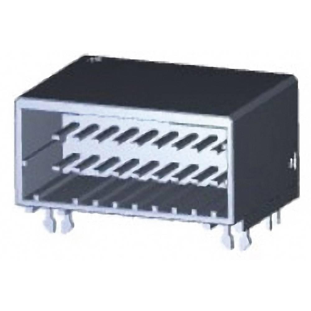 Indbygningsstiftliste (præcision) DYNAMIC 2000 Series Samlet antal poler 20 TE Connectivity 1376137-1 1 stk