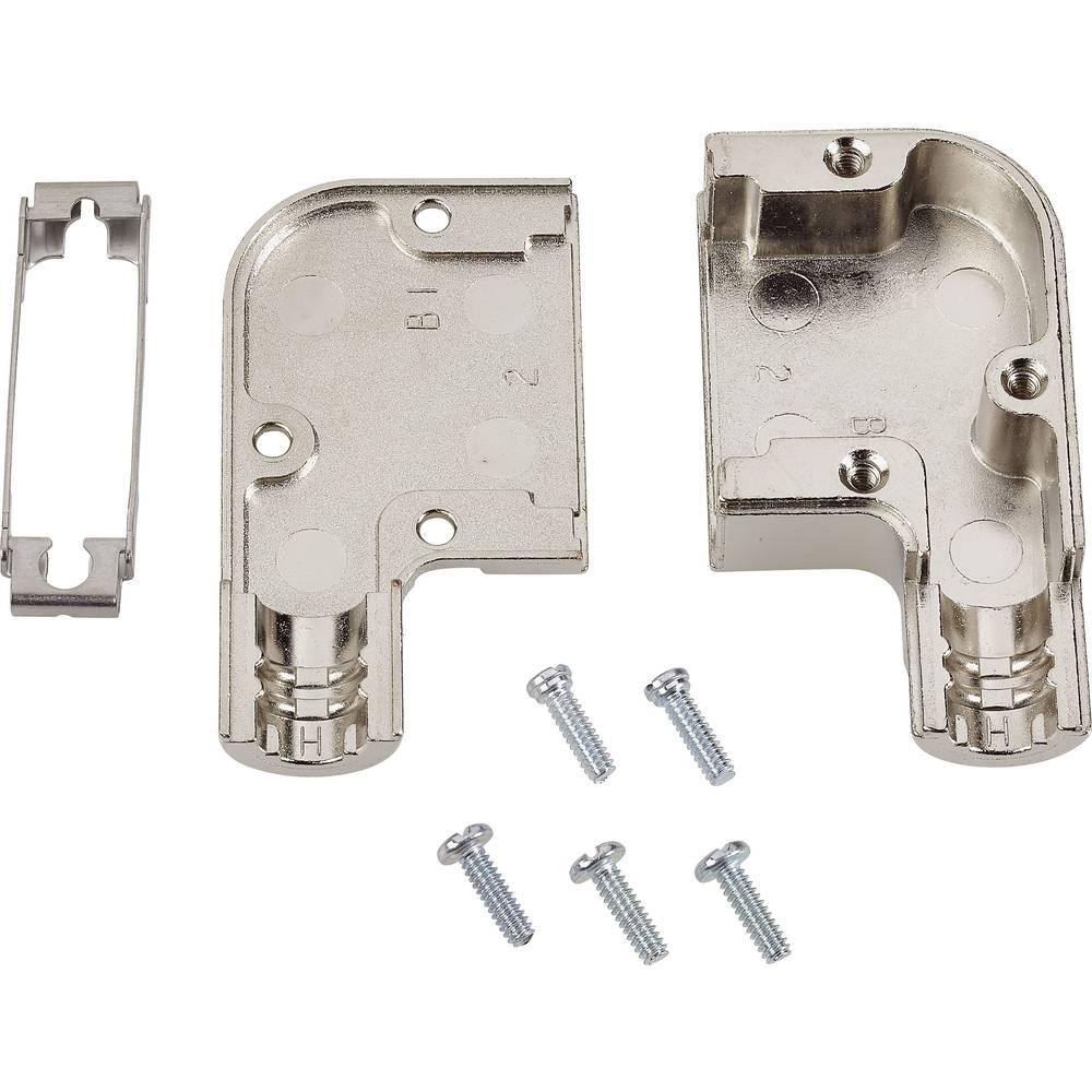 D-SUB ohišje, število polov: 15 cinkova zlitina 90 ° srebrne barve TE Connectivity AMPLIMITE HD-20 (HDP-20) 1 kos