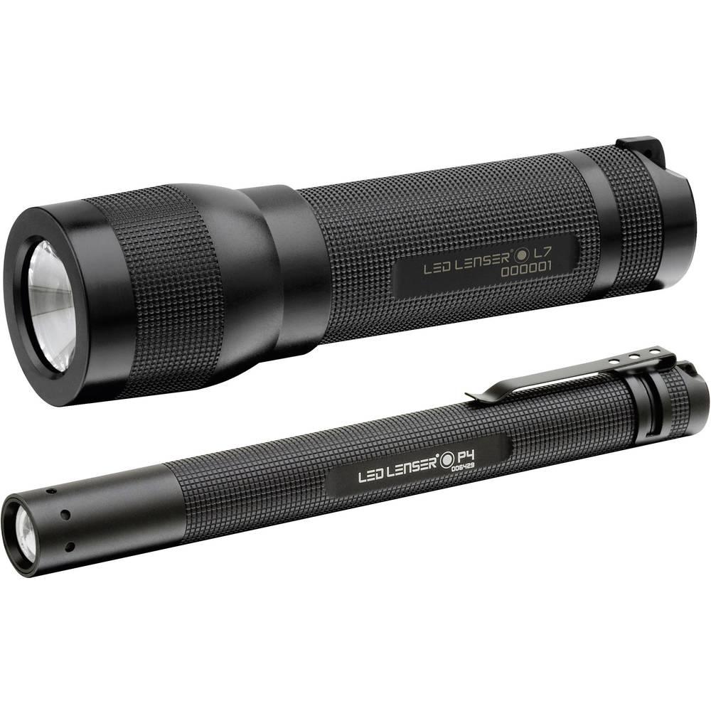 LED žepna svetilka Ledlenser L7 in P4 baterijska 115 lm črna