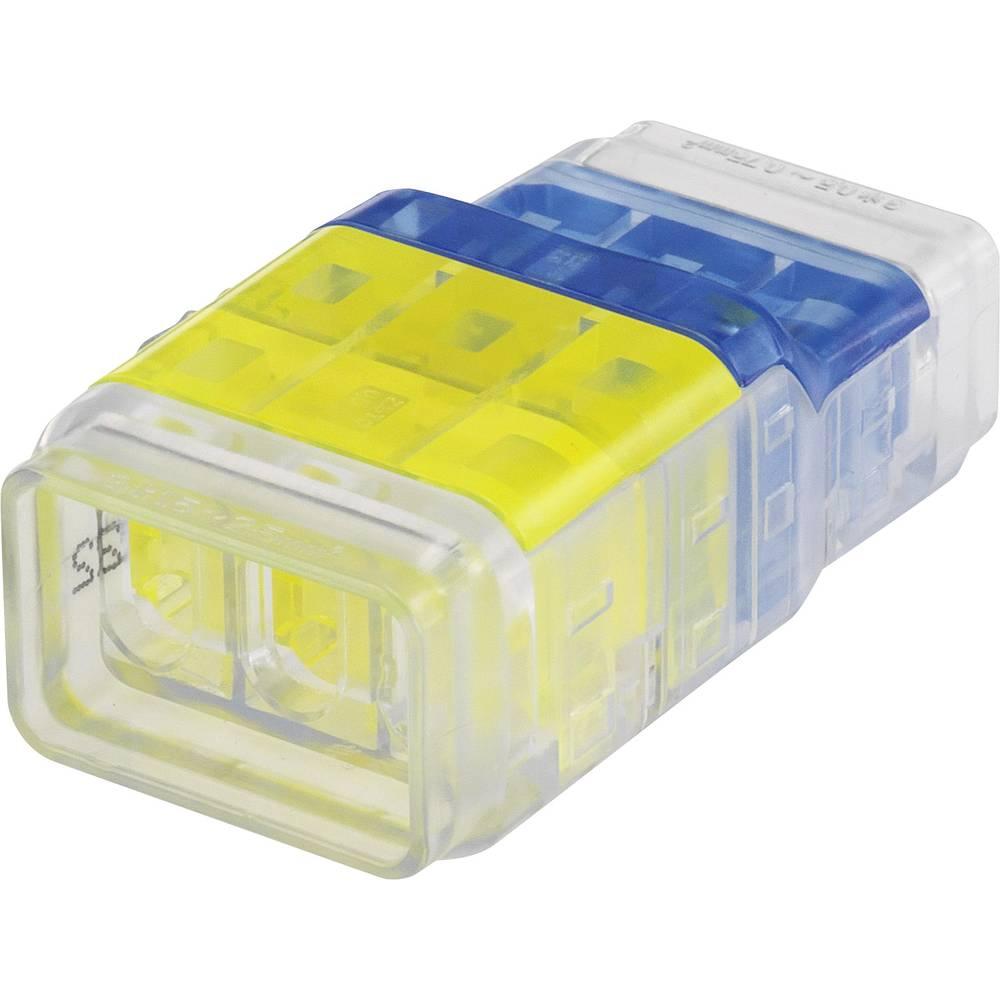 Enojni polnilni konektor, prilagodljiv: 0.5-2.5 mm toga: 0.5-2.5 mm št. polov: 6 1 kos rumena, modra