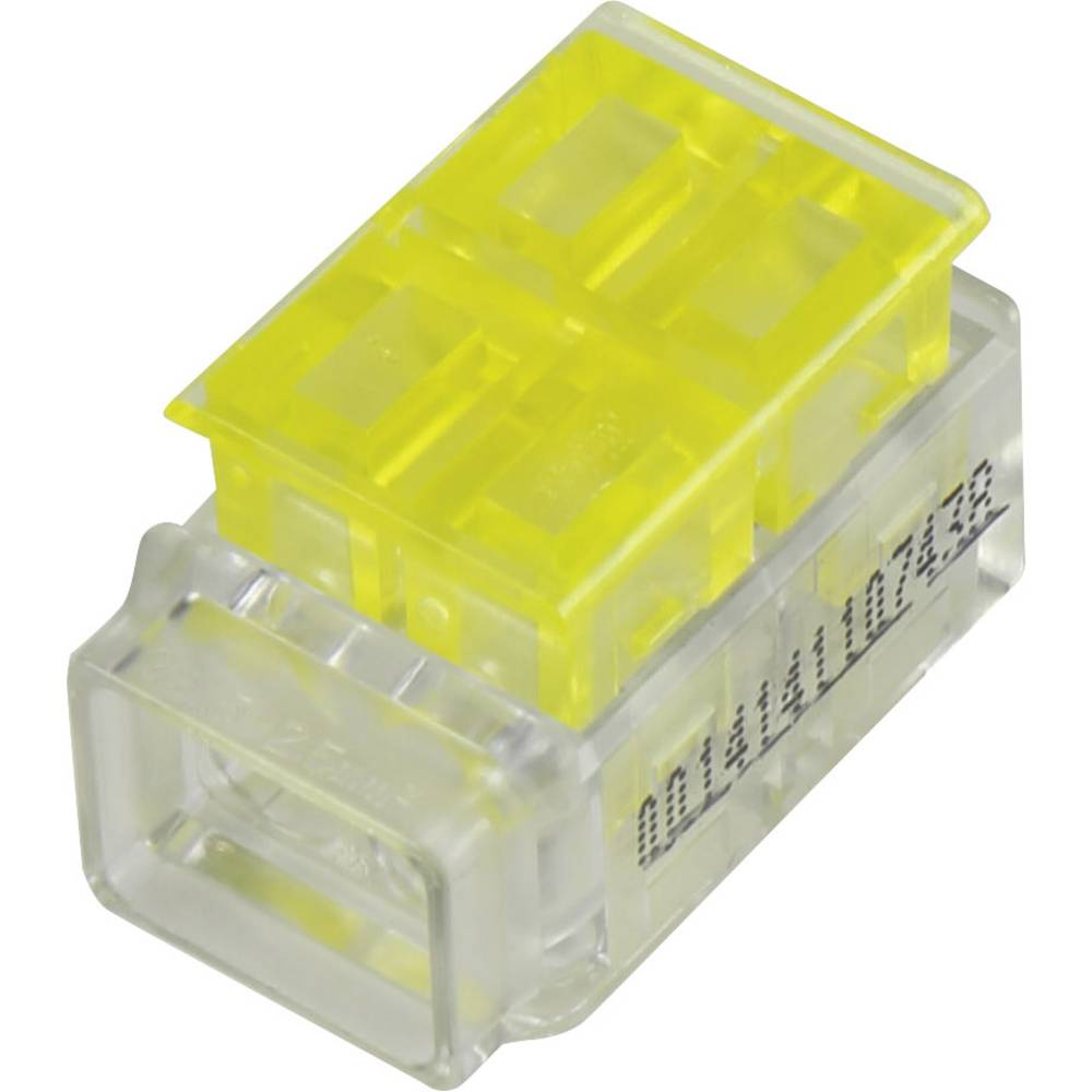 Enojni polnilni konektor, prilagodljiv: 1.5-2.5 mm toga: 1.5-2.5 mm št. polov: 3 1 kos rumena