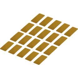 Odsevni lepilni trakovi (D x Š) 50 mm x 25 mm rumen poli-etilenska folija RTS25/50-YL Conrad vsebina: 20 kosov