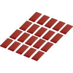 Odsevni lepilni trakovi (D x Š) 50 mm x 25 mm rdeč poli-etilenska folija RTS25/50-RD Conrad vsebina: 20 kosov