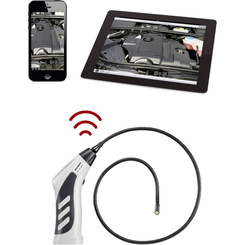 Endoskop VOLTCRAFT BS-20 WIFI sonde-: 8 mm dolžina sonde: 85 cm LED-osvetlitev, fokus, slikovna funkcija, video funkcija, WiFi