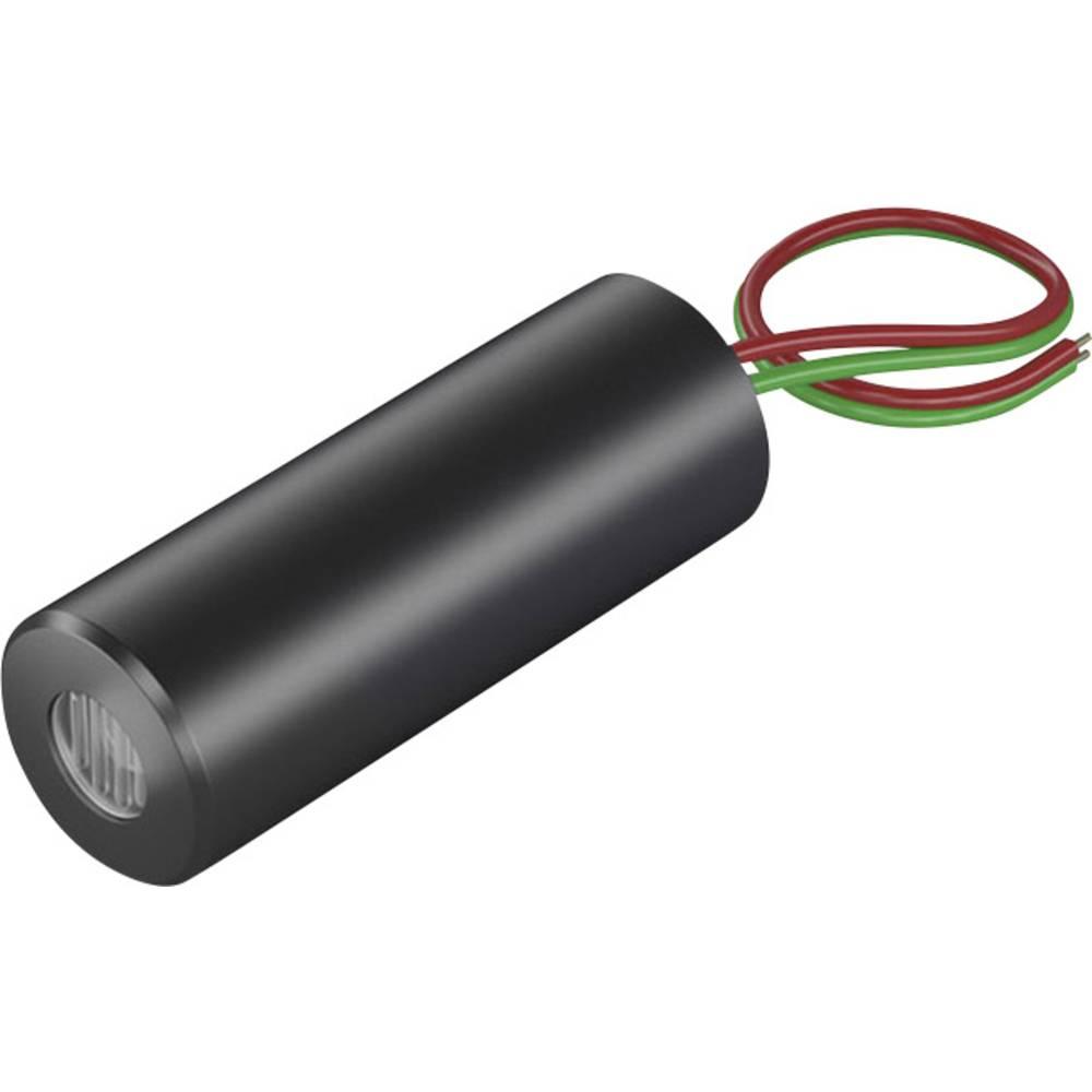 Laserski modul, linijski, rdeče barve 3 mW Picotronic LC635-3-4.5(12x32)