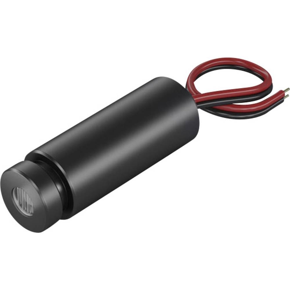 Laserski modul, točkovni, rdeče barve 1 mW Picotronic DD635-1-3(12x34)
