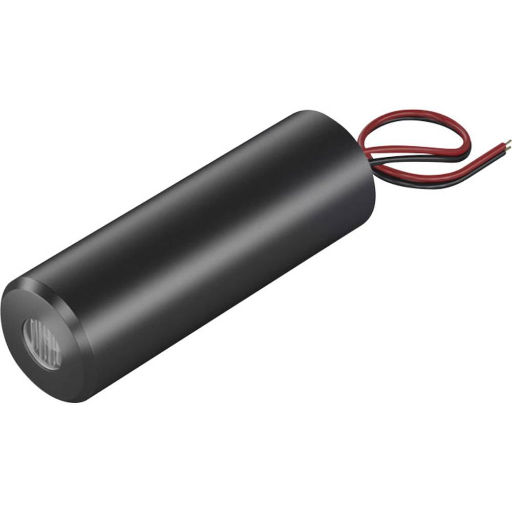 Laserski modul, križna linija, rdeče barve 2 mW Picotronic CB635-2-24(16x45)10DEG-F1000