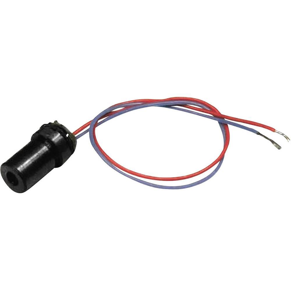 Laserski modul, točkovni, rdeče barve 1 mW Picotronic DGI650-1-5(7x14)-F35-C125