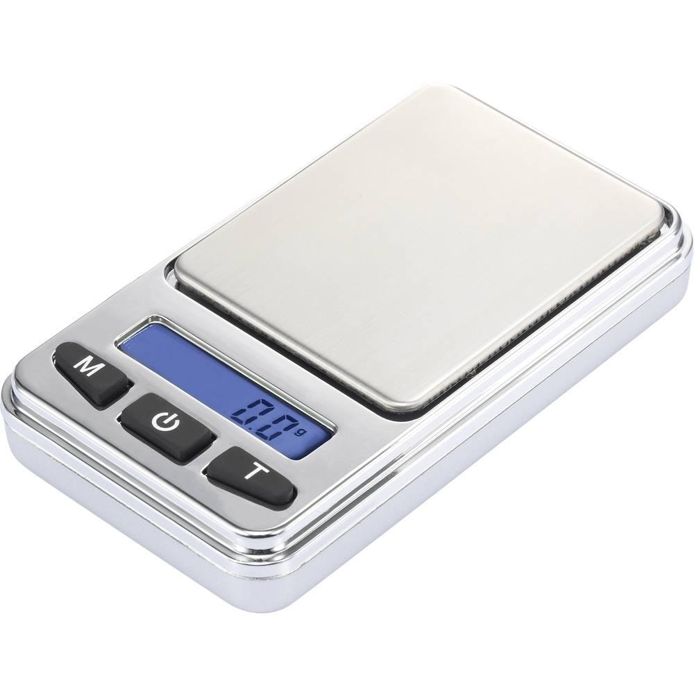 Džepna vaga SJS-60008 Basetech raspon vaganja (maks.) 200 g, očitavanje po 0.01 g na baterije, srebrna