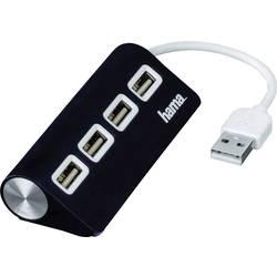 Razdelilnik za USB Hama, 4 vhodni USB 2.0-, črn
