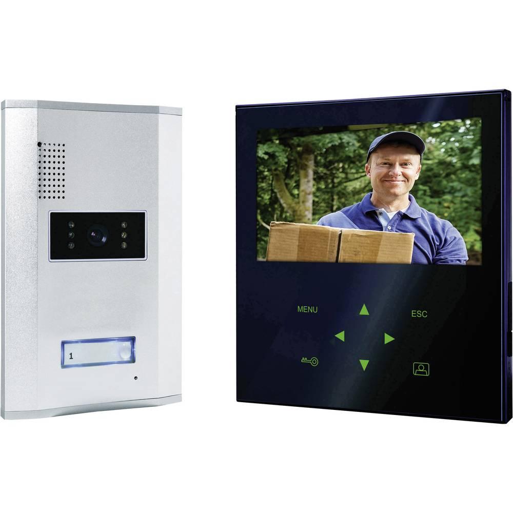 Video portafon s kablom, komplet Smartwares VD71Z SW 1 obiteljska kuća, aluminij, crno-bijeli