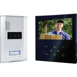 Video domofon, žični komplet Smartwares VD71Z SW 1 družinska hiša, aluminij, črno-bela