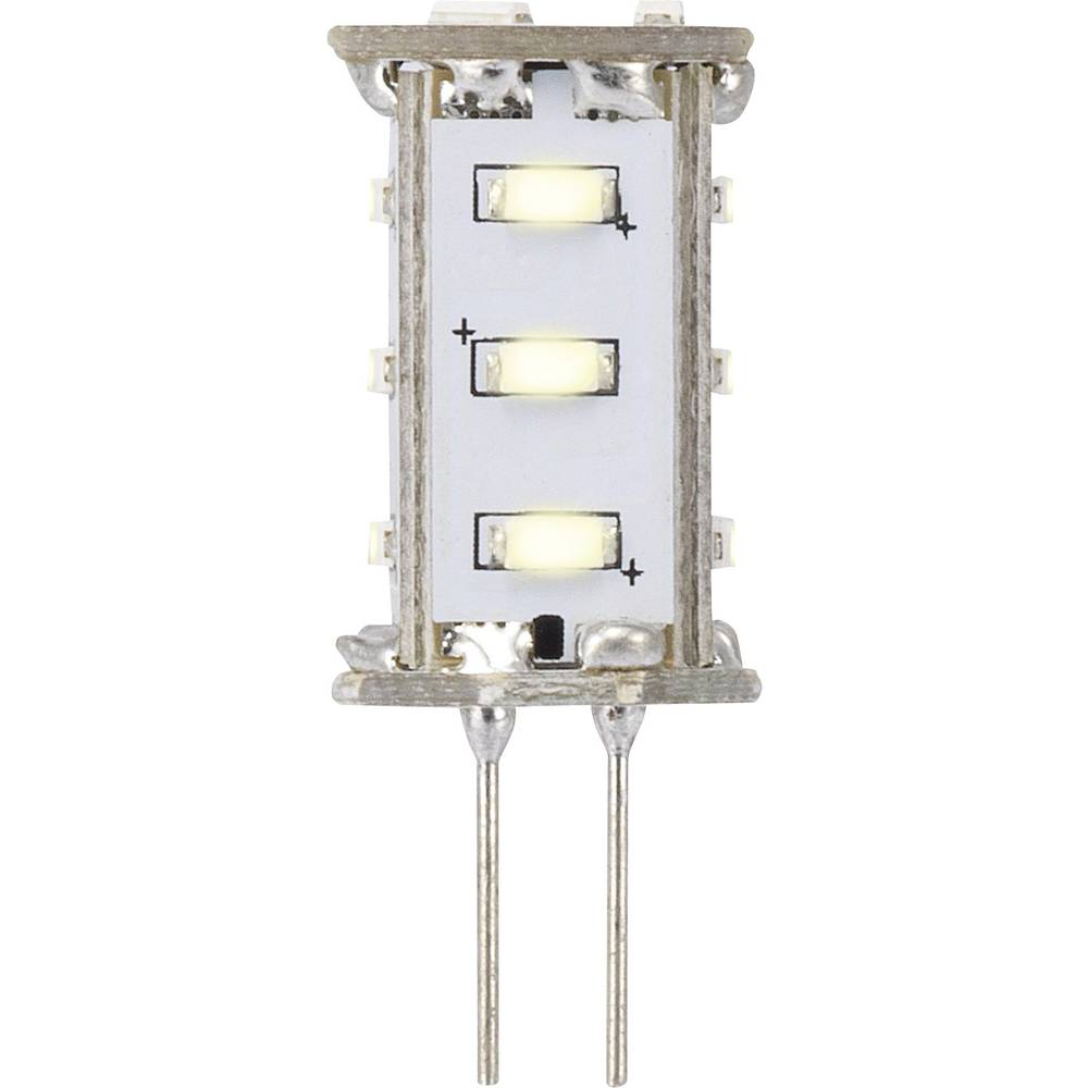 LED žarnica G4 oblika svinčnika 0.8 W = 5 W topla bela (premer x D) 13 mm x 33 mm EEK: A Sygonix 1 kos