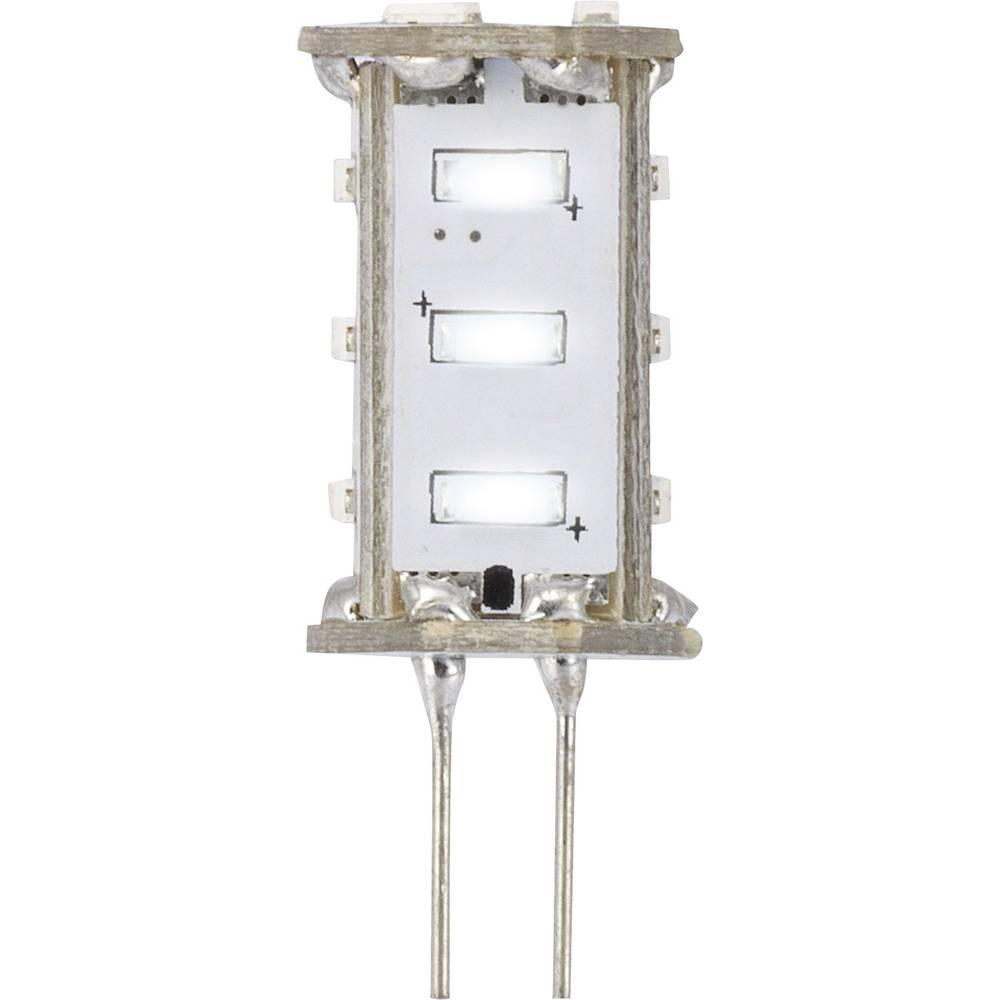 LED žarnica G4 oblika svinčnika 0.8 W = 5 W hladno bela (premer x D) 13 mm x 33 mm EEK: A Sygonix 1 kos