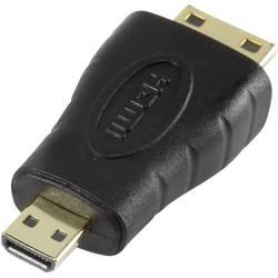 HDMI adapter [1x HDMI-utikač C Mini 1x HDMI-utikač D Micro] crn