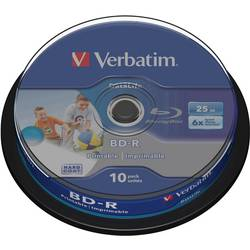 Blu-ray diskovi BD-R Rohling 25 GB Verbatim 43804 10 kom. okrugla kutija prazni