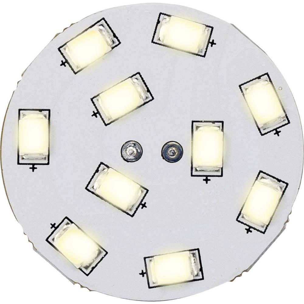 LED-žarnica (enobarvna) 16,75 mm, Renkforce, 12 V, G4, 1,5 W = 15 W, topla bela svetloba, razred A, vtično podnožje, 1 kos