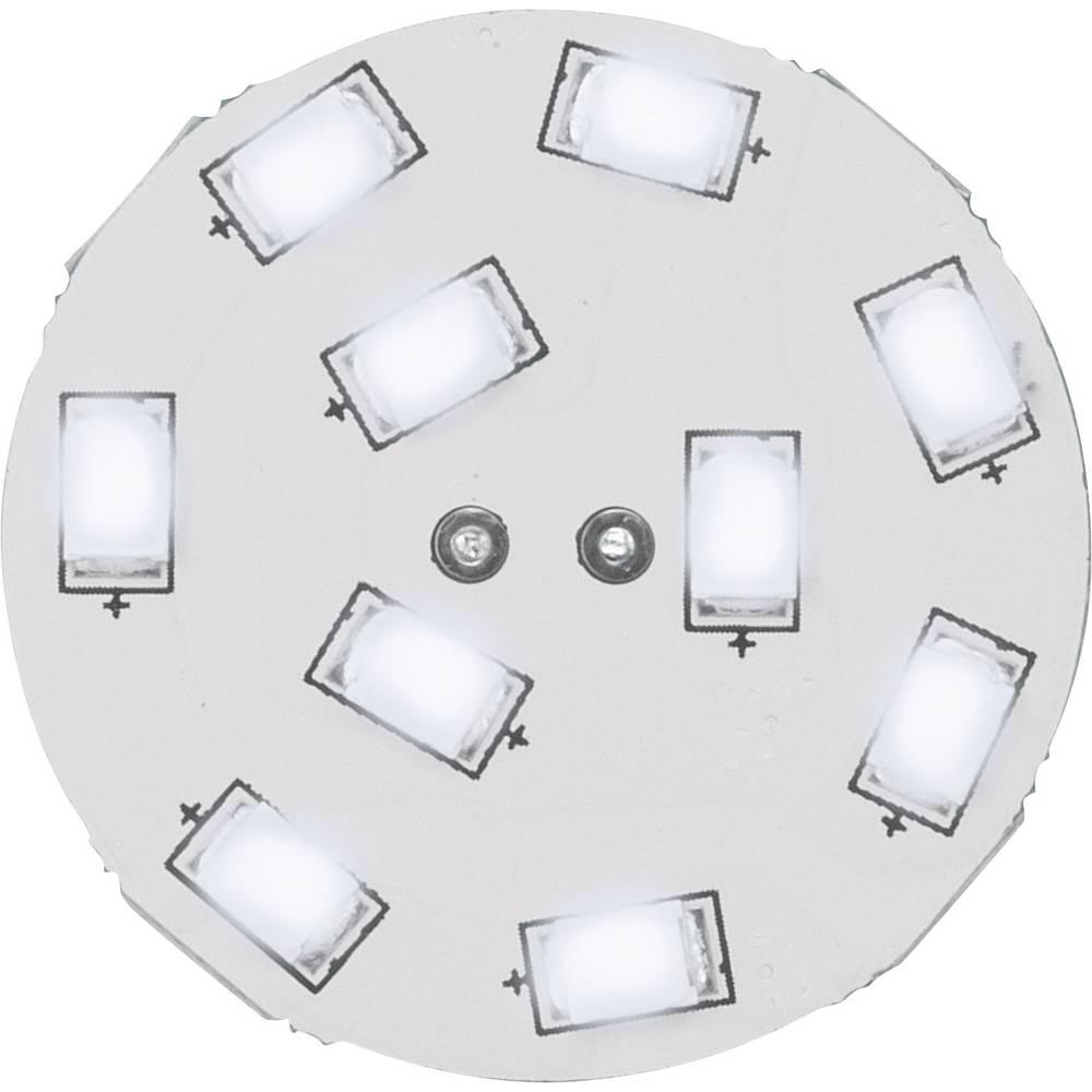 LED-žarnica (enobarvna) 16,75 mm, Renkforce, 12 V, G4, 1,5 W = 15 W, dnevna bela svetloba, razred A, vtično podnožje, 1 kos