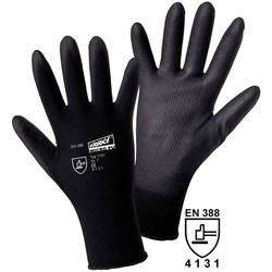 Fino pletene rokavice Worky MICRO black, 100% najlon s PU-prevleko, velikost 7, 1151