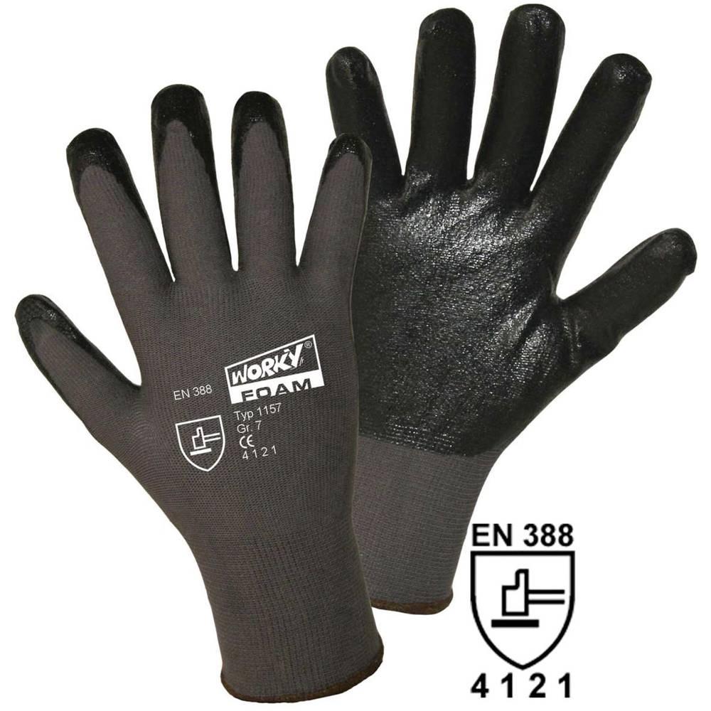 worky 1157 fino pletene rukavice, FOAM 100% najlon s nitrilnom prevlakom, veličina 8