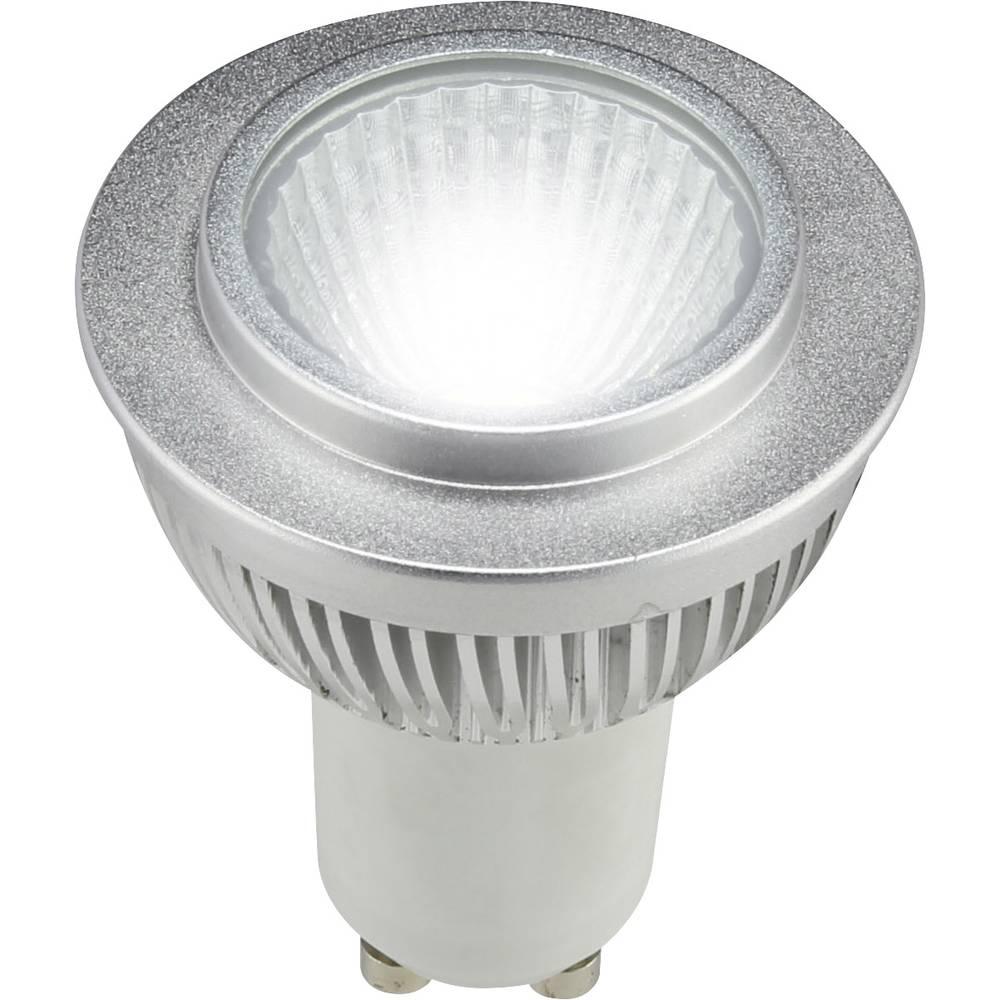 LED žarnica GU10 reflektorska 4 W = 25 W hladno bela (premer x D) 49.20 mm x 64.50 mm EEK: A+ Sygonix 1 kos