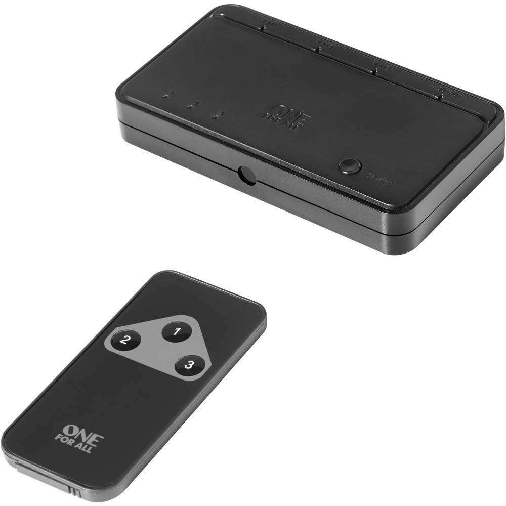 HDMI stikalo,3 vhodi,oomogoča 3D, LED-zaslon 1080 Pixel OneForAll SV 1630