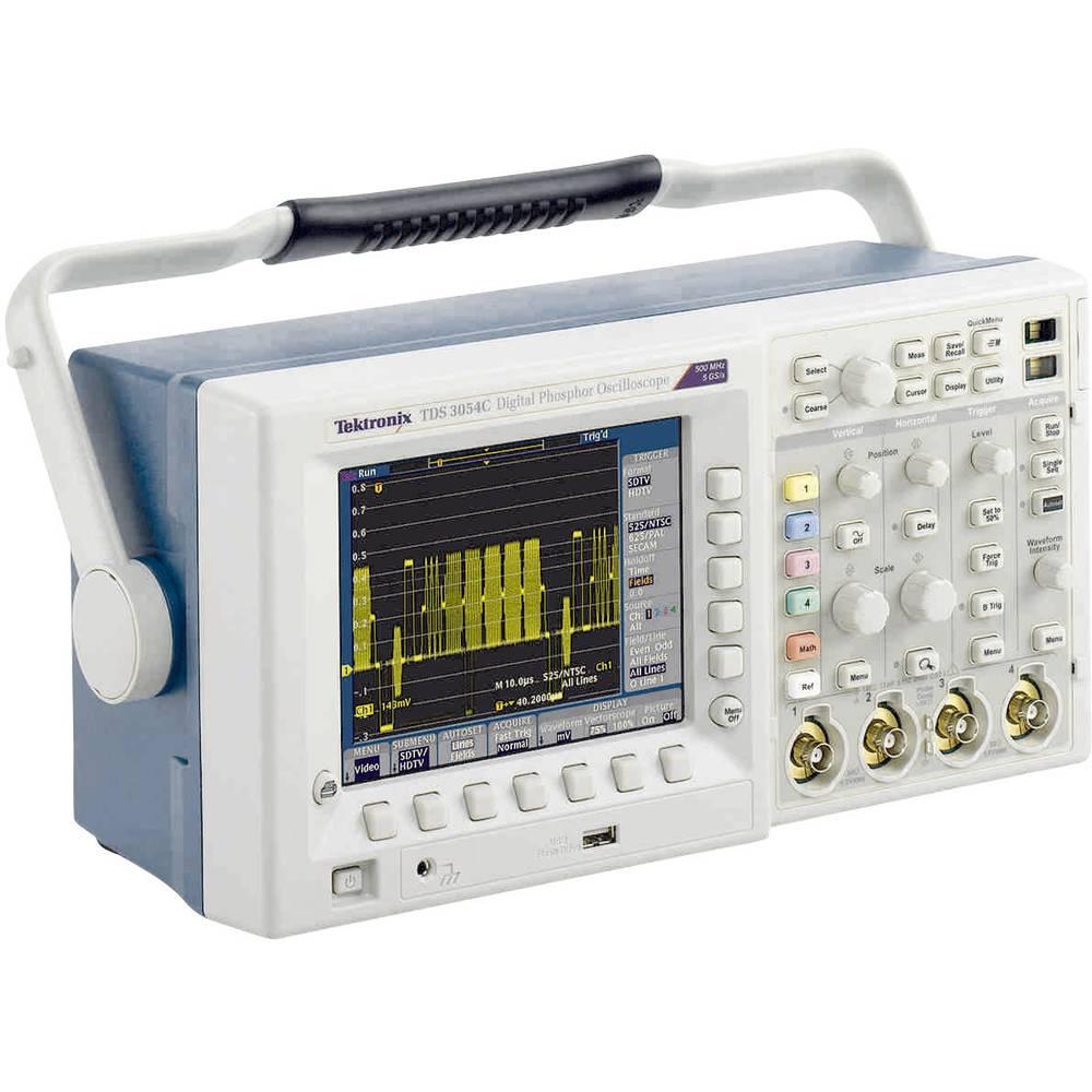 Kal. DAkkS Digitalni osciloskop Tektronix TDS3032C 300 MHz 2-kanalni 2.5 GSa/s 10 kpts 9 Bit kalibracija narejena po DAkkS digit