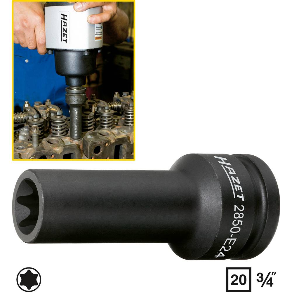 Delovna postaja-glava cilindra TORX® Hazet 2850-E20