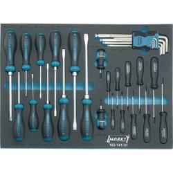 Hazet delavnica komplet izvijačev 31 delni križni phillips, notranji šestrobi, notranji torx, ploščati