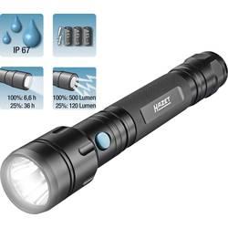 LED žepna svetilka Hazer, 500 lm, 400 g, baterijska, črna