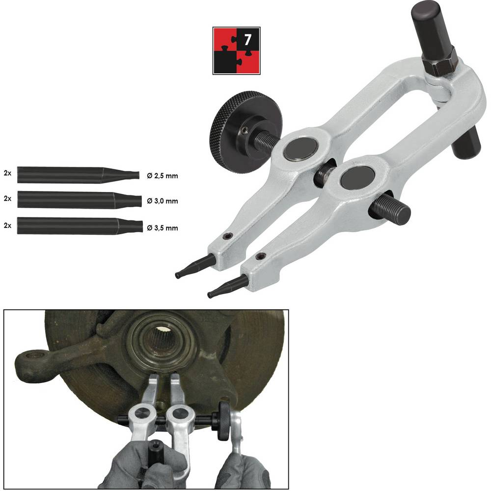 Komplet orodja za varnostni obroč, 7-delni Vigor V2867